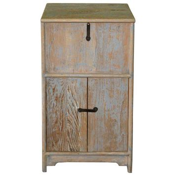 Pre-owned Recycled Wood Chest Side Table