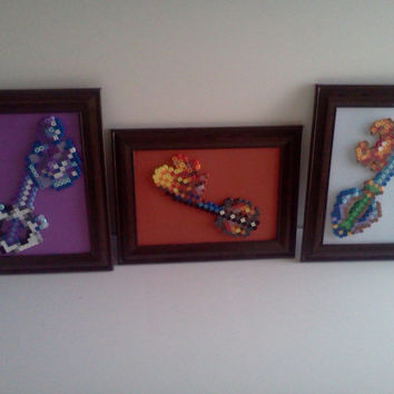 Kingdom Hearts Framed Keyblades (One-Winged Angel, Spellbinder)