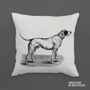 Dog Throw Pillow | Screen Printed English Pointer Couch Pillowcase