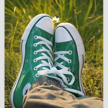 """""""Converse"""" Fashion Canvas Flats Sneakers Sport Shoes Low tops Green"""