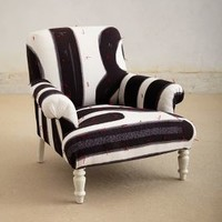 Posto Bello Armchair by Paola Navone Black & White One Size Furniture