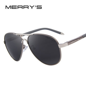 MERRY'S Men Classic Brand Sunglasses HD Polarized Aluminum Driving Sun glasses Luxury Shades UV400 S'8513