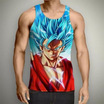 Dragon Ball Z Super- Super Saiyan God Blue Tank Top