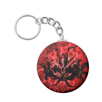 Scary Tribal Mask Keychain