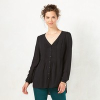 Women's LC Lauren Conrad Pintuck Tunic Blouse