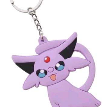 Brand New Video Game Pokemon Espeon Keychain