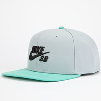 Nike Sb Iconic Mens Snapback Hat Grey One Size For Men 23773711501