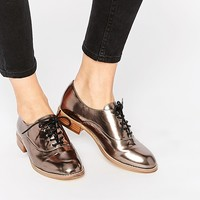 New Look Metallic Brogues at asos.com