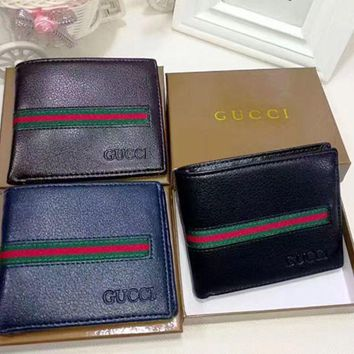 Gucci men's leather fashion wallet F