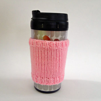 Coffee cozies, coffee cup sleeve, knit coffee cozy, knitted coffee cozy, coffee accessories, pink coffee mug, coffee sleeve, coffee cozy