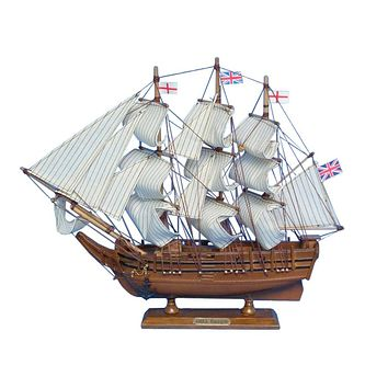 Wooden Charles Darwin's HMS Beagle Model Ship 14""