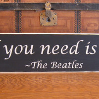 Stained sign, All you need is love, the beatles, home decor, wall hanging sign