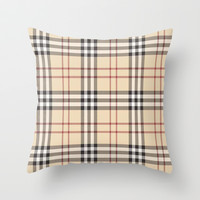 Burberry Throw Pillow by PinkBerryPatterns