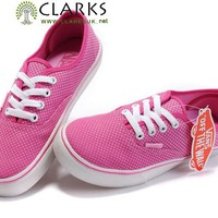Vans Polka Dot Canvas Authentic Womens Shoes Pink