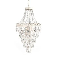 Tadpoles 1-Light White Diamond Pendant Lamp Chandelier-CPLAPL010 - The Home Depot