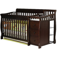 Walmart: Dream on Me Brody 4-in-1 Convertible Fixed-Side Crib with Changer, Espresso