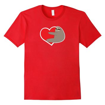 Sloth Heart Valentine's Day Shirt- Cute Romantic Gift