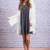 Braced For Beauty Kimono, Off White