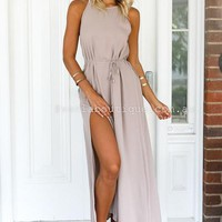 Julia Claire Maxi (Taupe) | Xenia Boutique | Women's fashion for Less - Fast Shipping