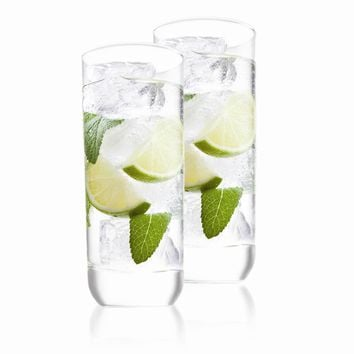 Set of 2 Long Drink Glasses - Etching Personalized Gift Item