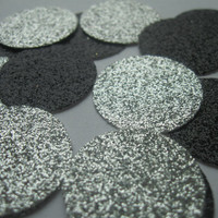 Black and Silver Wedding Decor Wedding Table Confetti Wedding Reception Decor Black Wedding Decorations Silver Glitter Wedding Decor Table