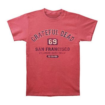 Grateful Dead Men's  San Francisco '69 T-shirt Red