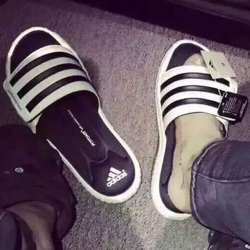 Adidas Women Men Fashion Yeezy Boost Print Slippers Sandals Shoes