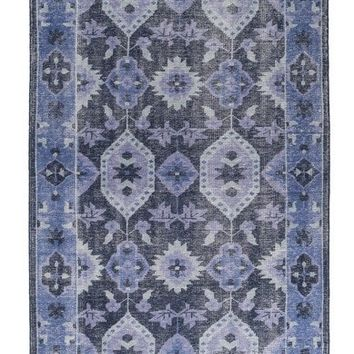 Sahara Over Dyed Cobalt Blue Rug