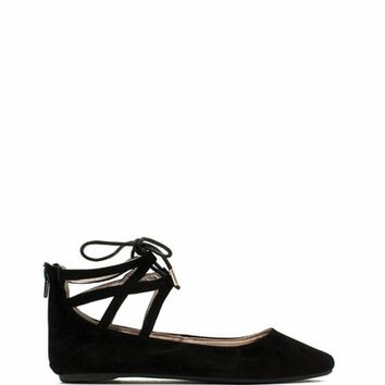 Laced N Caged Ballet Flats
