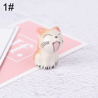 Nail Art Brush Pen Rack Ceramic Stand Holder Fortune Cat Manicure Tool FK