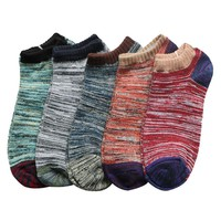3Pair Cotton Blend Men Ankle Socks Low Cut Knitted Socks Fashion Calcetines Men Colorful Sock Breathable Meias Homens
