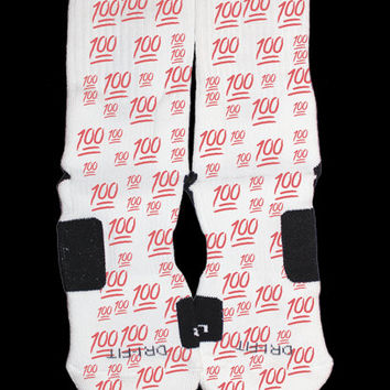100 Emoji Custom Nike Elite Socks