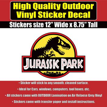 JURASSIC PARK Movie Jeep Vinyl Car Window Laptop Bumper Sticker Decal
