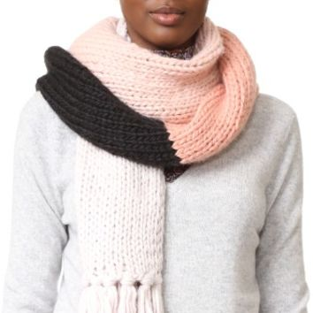 Chunky Knit Colorblock Muffler