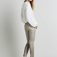 Free People Womens Sueded Sateen Zipper Back Skinny