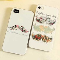 """My Moustache is Vintage"" iPhone 4/4s or 5 Case"