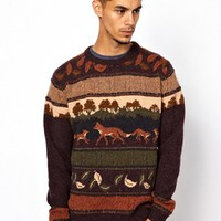 Ankerkjendt Jumper With Fox Print at asos.com
