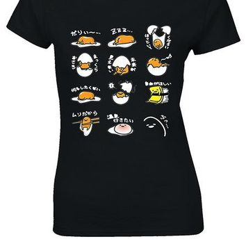 Tops and Tees T-Shirt Gudetama JAPANESE Lazy Egg White Women T Shirt Top Printed  2017 Summer Funny T-Shirts Sexy  Tee Simple Letter AT_60_4 AT_60_4