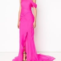 Oscar De La Renta Ruched Front Slit Gown - Marissa Collections - Farfetch.com