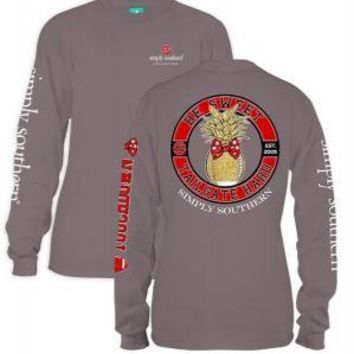 *Closeout* Simply Southern Long Sleeve Tees- FOOTBALL RED & BLACK