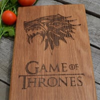 Dinner Is Coming Cutting Board Game of Thrones Kitchen Decor Wooden Cutting Board Cookware Git for Dad  Christmas Present Birthday Gift