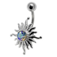 FreshTrends Tribal Sun AB Belly Button Navel Ring