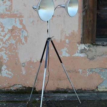 Tripod Floor Lamp, Photography Lamps, Industrial Floor Lamp, Victor Armlite, Mid Century Floor Lamp, Fairfax Elevator Tripod, Studio Lamp