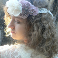 Boho Bridal Butterfly Headband