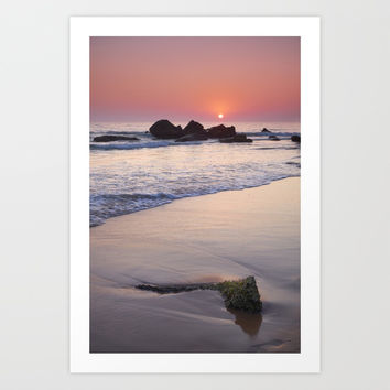 Encendida Beach At Sunset. Sancti Petri. by