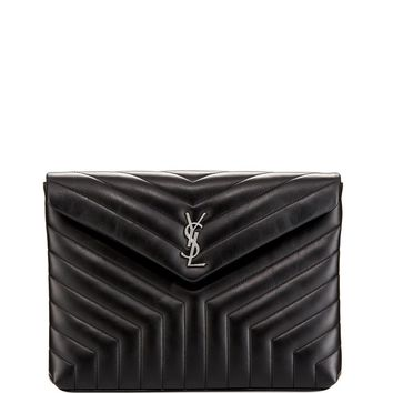 Monogram Loulou Quilted Document Holder by Saint Laurent