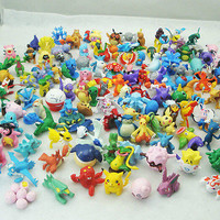 Hot 24pcs Mini Lovely Lots 2-3cm Pokemon  Mini Random Pearl Figures US LS