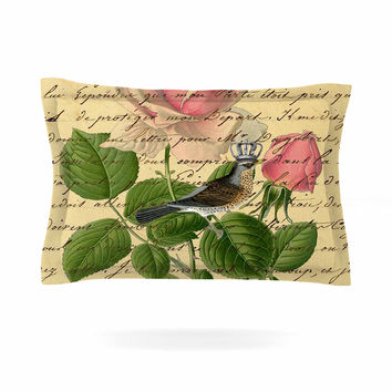 "Suzanne Carter ""Vintage Dream"" Floral Script Pillow Sham"