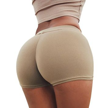 YANQIN Sexy Women Fitness Yoga Shorts Hips Push Up Running Gym Bottoms Tights Clothing Slim Fitness Jogging Femme Sports Shorts