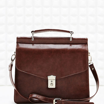 Deena & Ozzy Double Pocket Satchel in Tan - Urban Outfitters